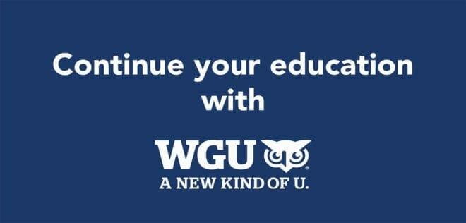 Western Governors University WGU Degree Pathway